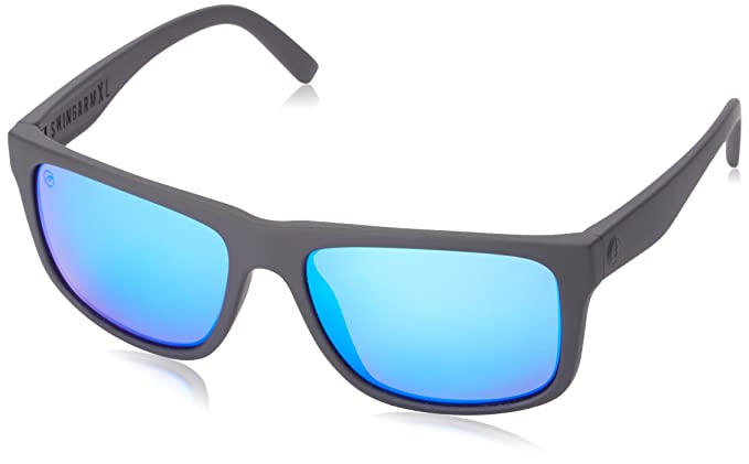 260f00a8a6a Image Unavailable. Image not available for. Colour  Electric Visual Swingarm  XL Matte Black OHM Grey Blue Chrome Sunglasses