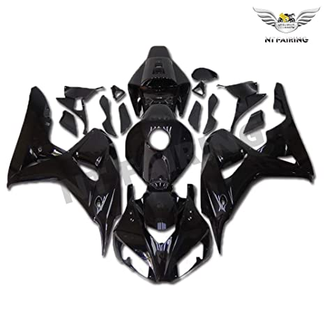 ZXMOTO Injection Mold Plastic Motorcycle Fairing Kit For Honda CBR 1000RR 2006 2007 Glossy Black