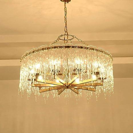 Salón claro bronce Led Golden Luz junhong cristal Lighting SMpUzV