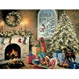 Bits and Pieces - 1000 Piece Glow in the Dark Puzzle - Not a Creature was Stiring, Christmas Eve, Holiday - by Artist Nicky Boehme - 1000 pc Jigsaw