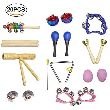 Instrumentos Musicales para Niño,Crayfomo juguetes de percusión para niños pequeños, juego de banda