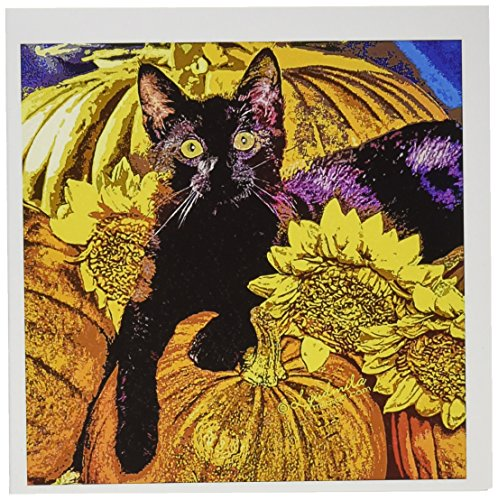 3dRose Halloween Cat - Greeting Cards, 6 x 6 inches, set of 6 (gc_4475_1)