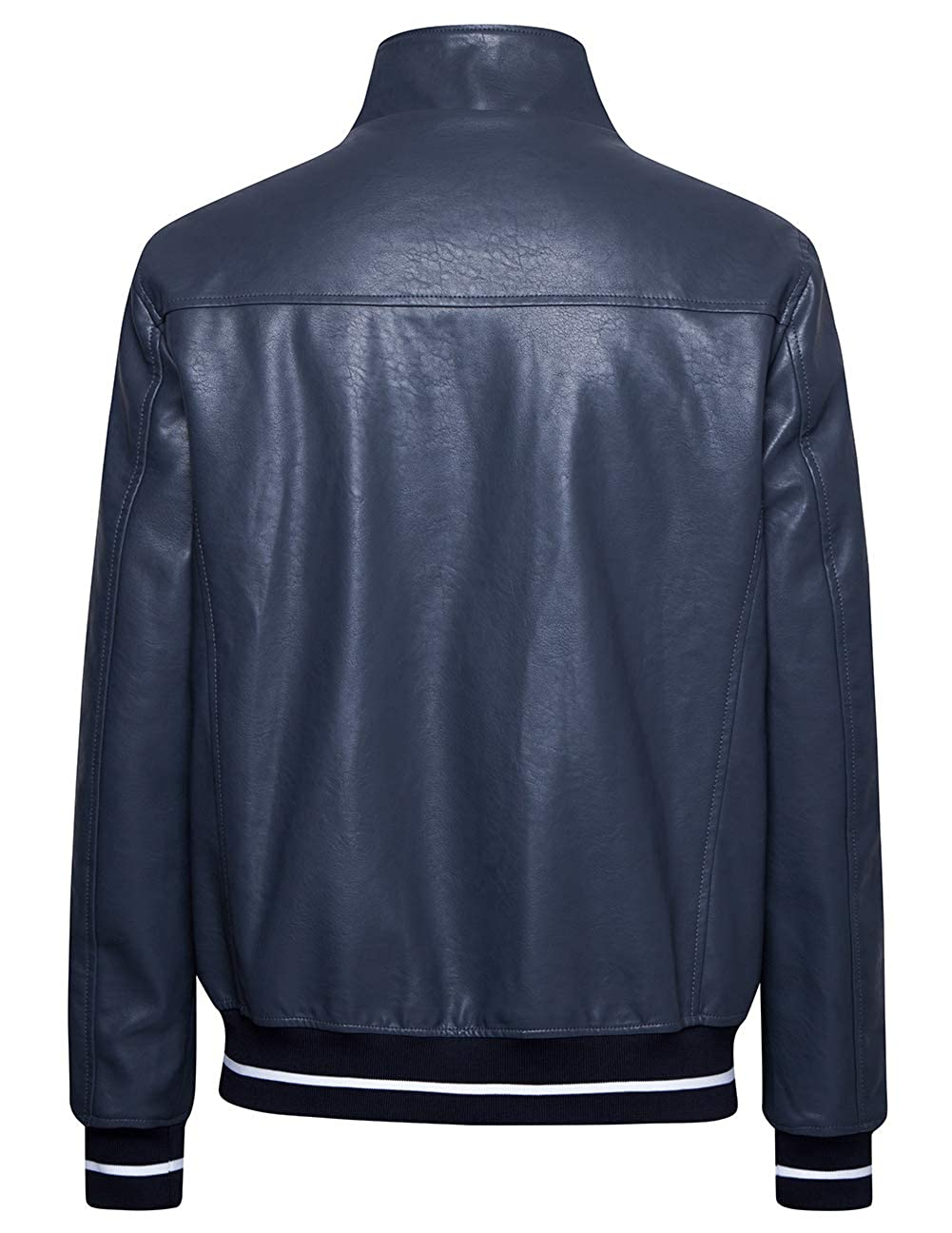 blackmogoo Mens Faux Leather Jacket Outerwear Windbreaker and Waterproof Hooded Jacket