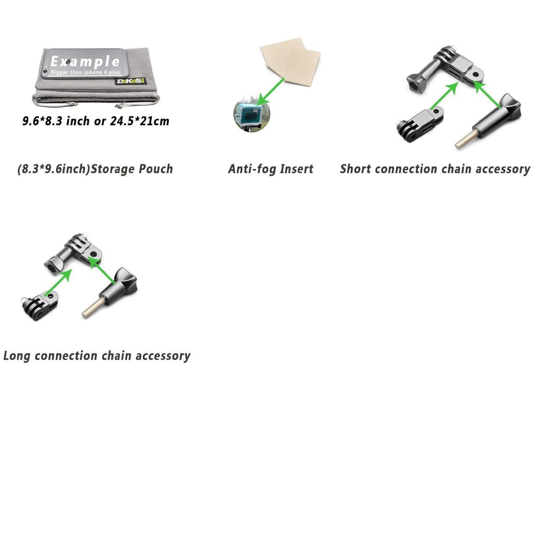 55 accesorios en 1 para goPro Hero 5/4/3 de DeKaSi por solo 28€