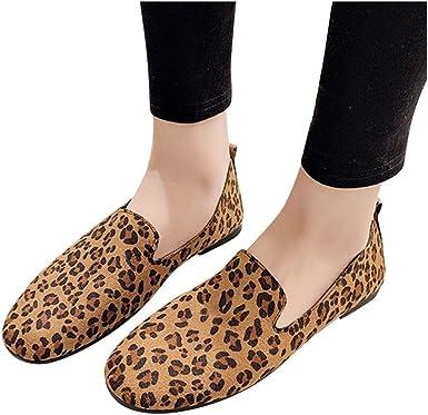 Women Flat Loafers Round Toe Flock Slip