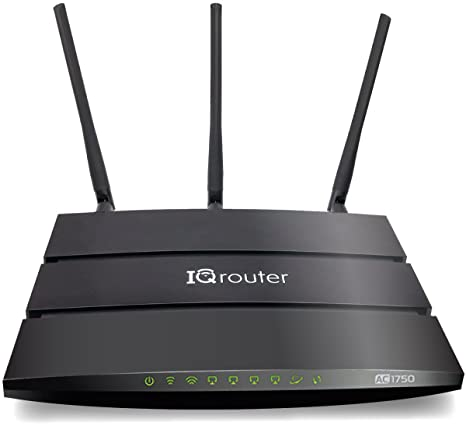 IQrouter – IQRV2 Self-Optimizing router with dual band WiFi (AC1750) adapts  to your line for improved quality