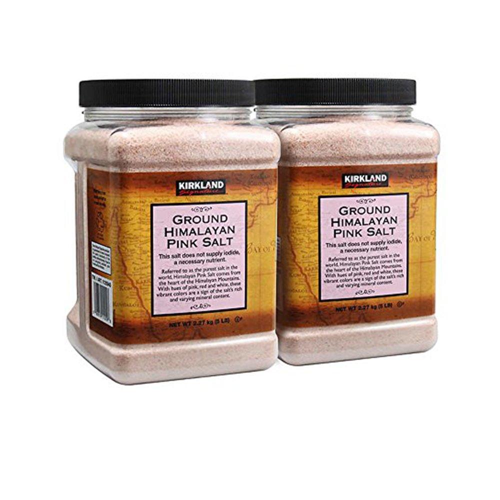 Kirkland Signature Himalayan Pink Salt 5 lbs. (Pack of 2)