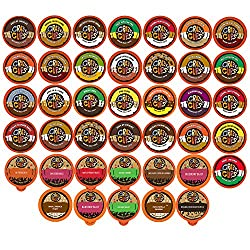 Crazy Cups Flavored Coffee Single Serve Cups for Keurig K Cups Brewer Variety Pack Sampler 40-count by Crazy Cups