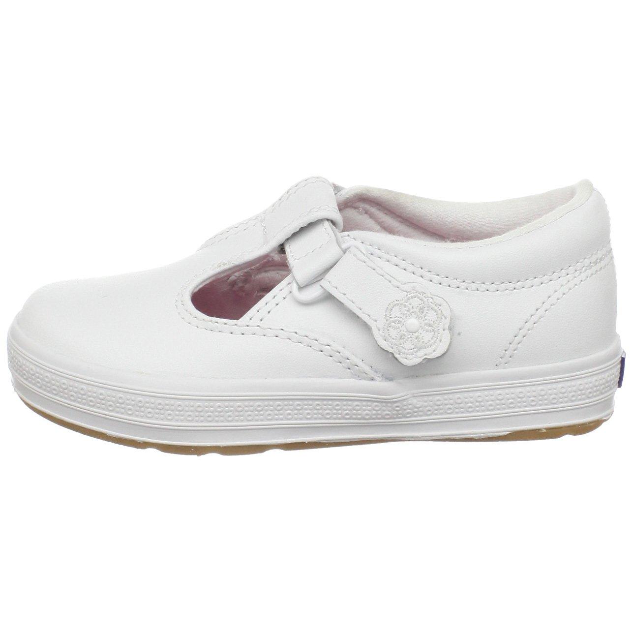 Keds Daphne T-Strap Sneaker (Toddler/Little Kid), White, 12 M US Little Kid by Keds (Image #5)
