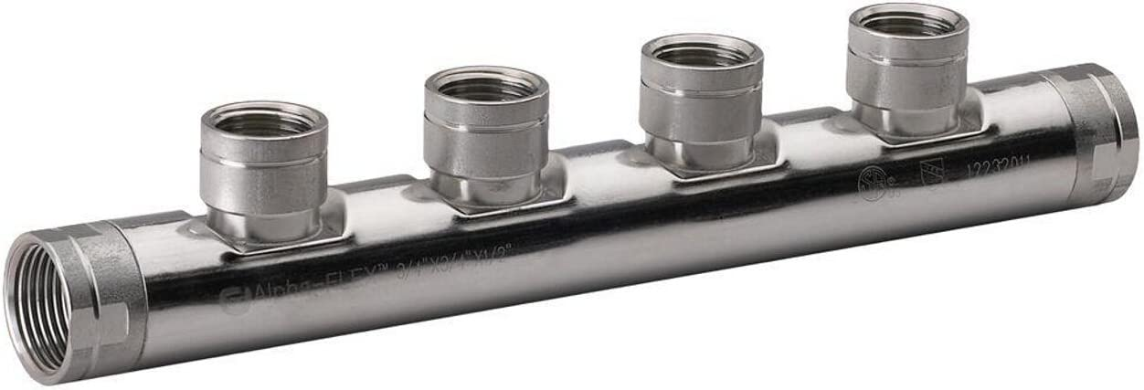 HomeFlex 11-070504 3/4-Inch x 3/4-Inch x 1/2-Inch Stainless Steel FIPT Manifold