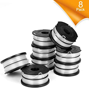 GAVAER Dual Line Replacement Spool Compatible with DF-065 Black Decker Weed Eater Spool,Compatible with GH710 GH700 GH750 Black and Decker Trimmer,36ft 0.065-Inch Replacement Autofeed Spool(8 Pack)