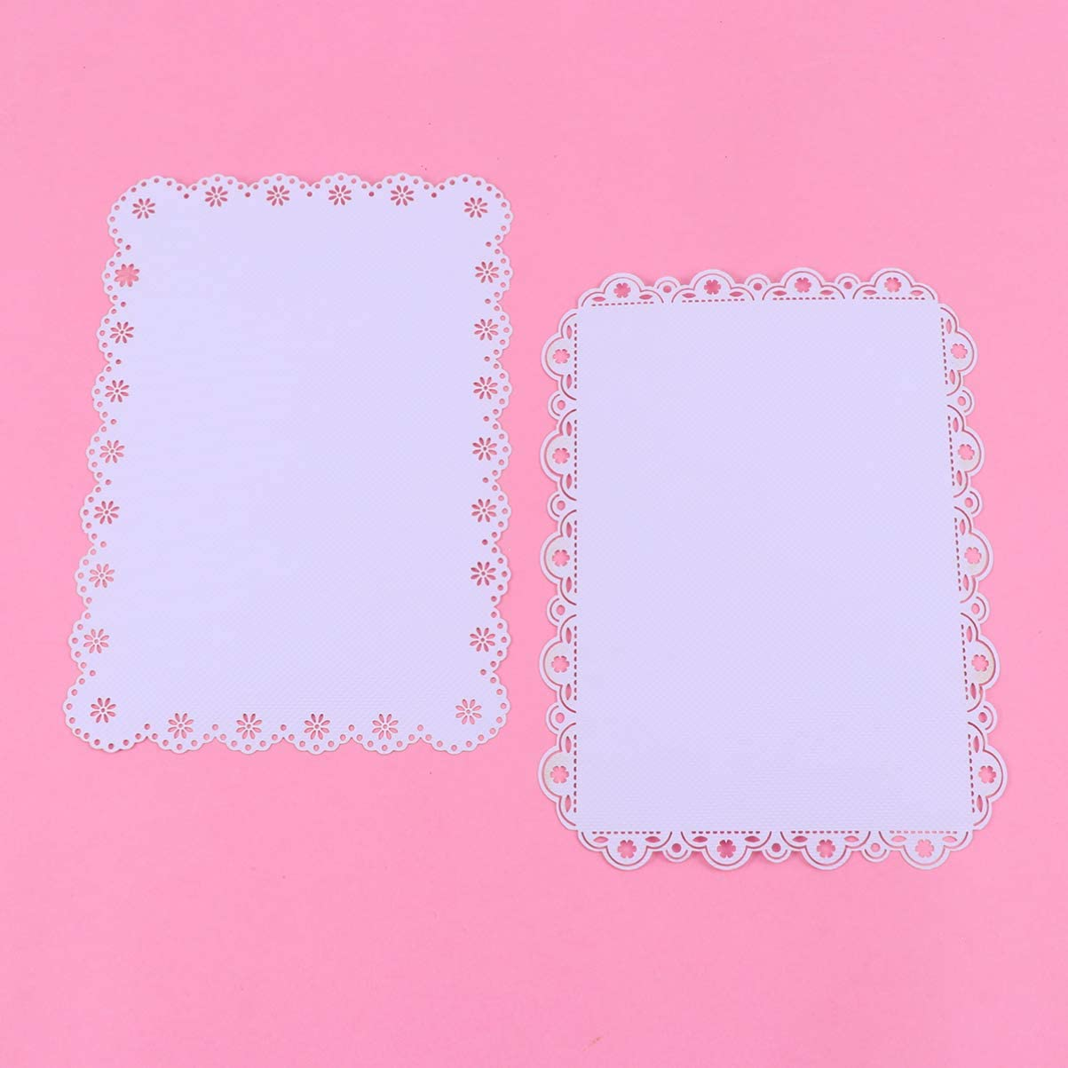 Amosfun 10Pcs Scrapbooking Background Paper Hollow out Paper Lace Doilies Backing Paper Decorative Paper for DIY Diary Photo Album