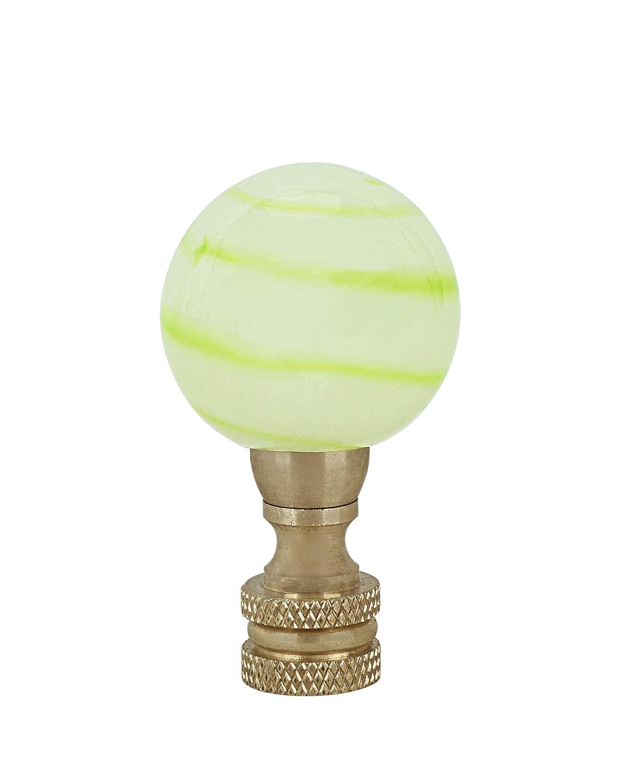 Green /& Green Light Green Grain Glass Lamp Copper 2 Tall Finial Aspen Creative 24027-21