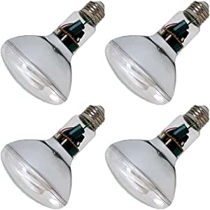 Pack of 4 GE 15W CFL Reveal Bulb Equivalent to 60W Color ...