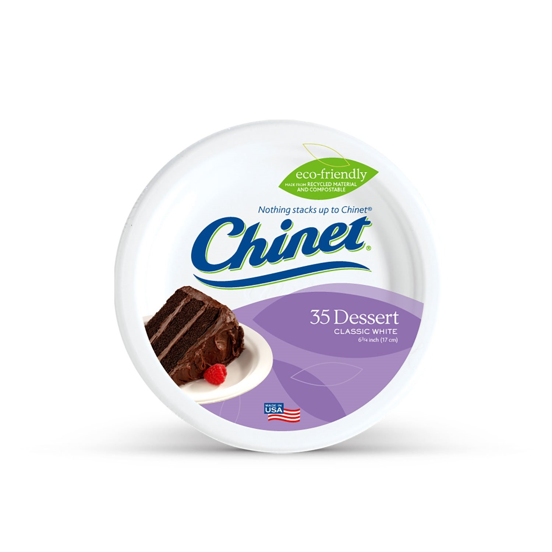 Chinet Classic White Fiber Dessert & Appetizer Plates, 420 Count Huhtamaki COMINHKPR121622