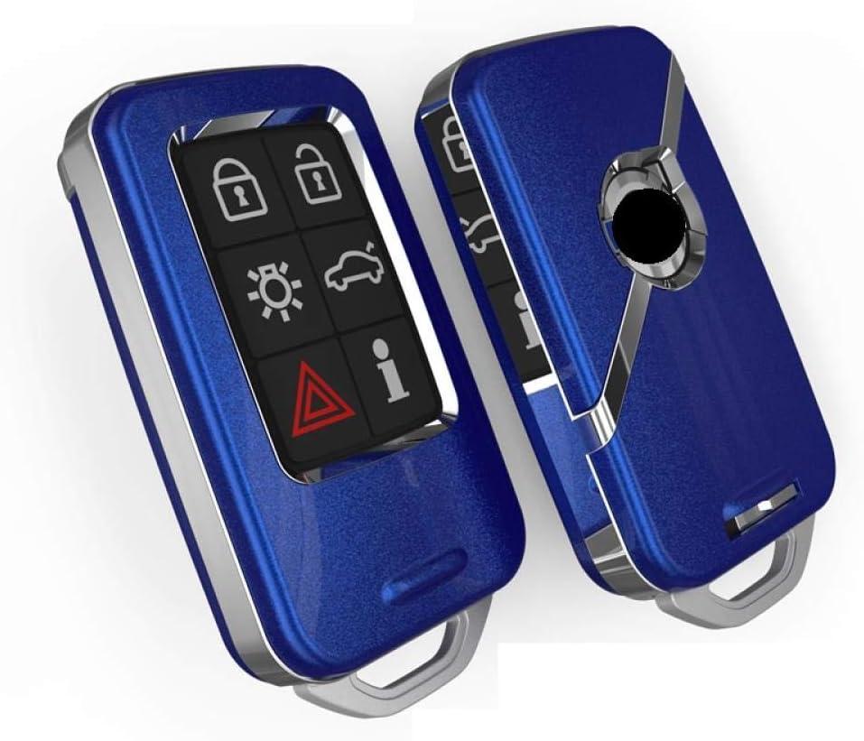 Copertura Bianca KQTRW Coperchio Chiave Auto Per Volvo V40 V60 S40 S60 S80 V50 V70 Xc60 Xc70 Xc90 S90 S80L S60L Con Portachiavi E Anello Portachiavi