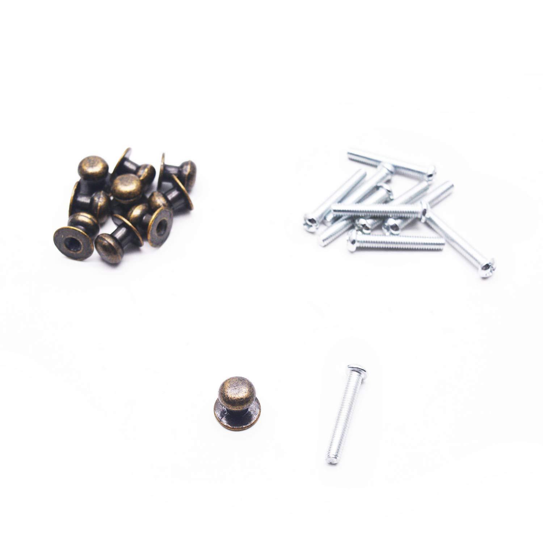 10 Tiradores de Metal Bronceado (7RGT7686)