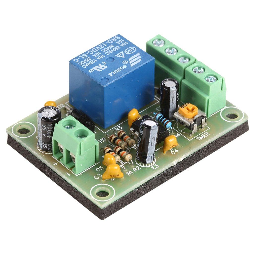 UHPPOTE Module de Contrôle à la Temporisation 0~30 secondes réglables Voltage DC 12V UT-PCB-505