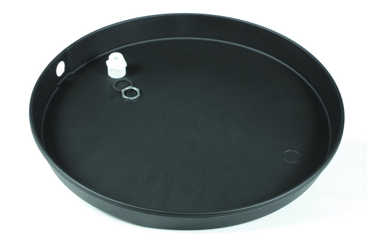 Camco 11429 32'' ID x 2'' Plastic Drain Pan with CPVC Fitting by Camco