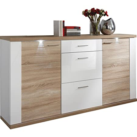 Xora Sideboard Brown 194 X 42 X 42 Cm Metal Amazon Co Uk Kitchen