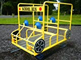 School Bus Spring Rider, Four Seat Bus For Children's Riding Outdoor Riding Toy