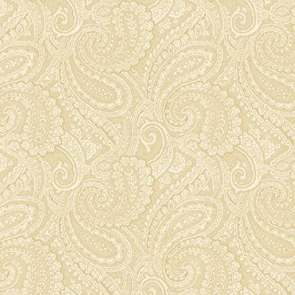 Amazon Essentials Paisley Tan 108 Wide Quilt Backing Fabric By