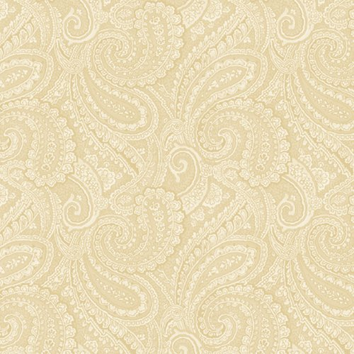 Tan Quilting Sewing Craft Fabric - Essentials Paisley Tan 108