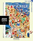 New York Puzzle Company - New Yorker Beachgoing - 1000 Piece Jigsaw Puzzle