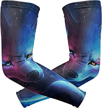 Arm Sleeves Fox Mens Sun UV Protection Sleeves Arm Warmers Cool Long Set Covers