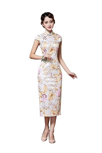 YueLian Women\'s Cap Sleeve China Traditional Clothing Long Qipao ...
