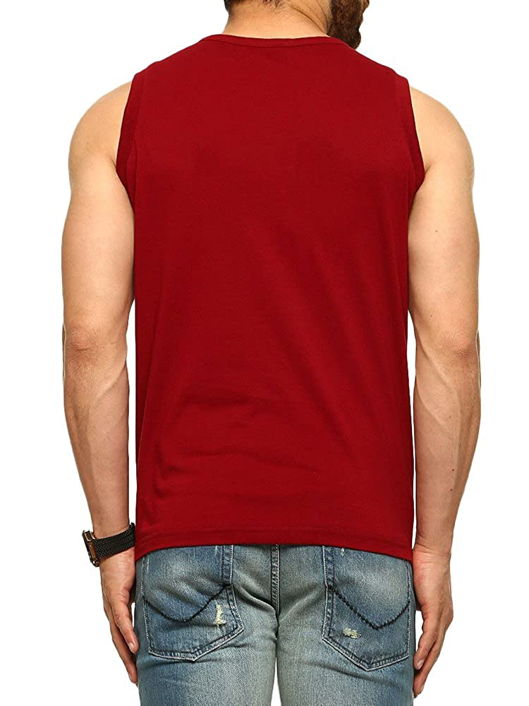 Makkrom Mens Slim Fit Sleeveless Button Henley T Shirt Athletic Tank Tops