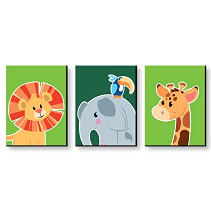 amazon com jungle party animals safari zoo animal nursery wall