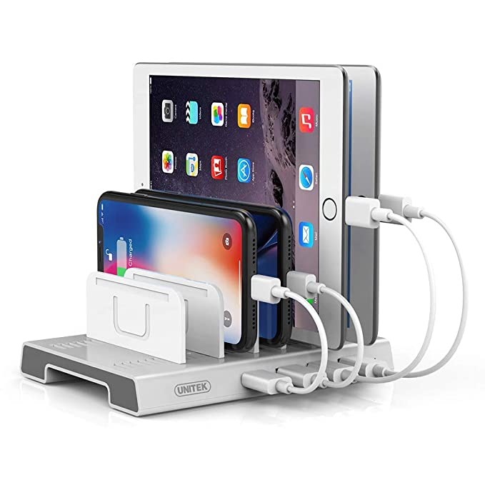 5d617b09a6d5ac Unitek 4 Ports USB Charging Station, Fast Charger and Smart IC Charger Port  Compatible with