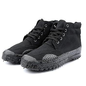 Damen Herren Schwarze Armee Kampfstiefel Wanderschuhe Trekking Stiefel Winterschuhe Unisex Schuhe für Sport Outdoor CS Freizeit Größe 36-45 von QIMAOO A7zcQdzDw