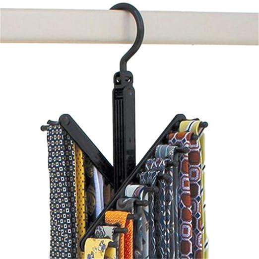 Fengbingl-hm Percha Bufanda Living 2 Piezas Black Tie Rack ...
