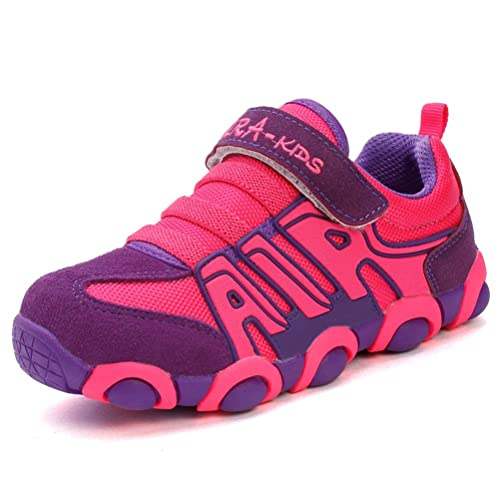5acd2a4318d2 JINDENG Boys Girls Running Shoes Kids Sneakers for Grade School Strap  Hook Loop Walking Footwear Easy On
