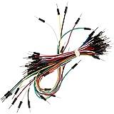 Ganvol 65PCS assortiti lunghezza multicolore flessibile solderless breadboard ponticello cavo maschio a maschio per Arduino, Raspberry Pi Modello A/Model B 11+ 23modulo/computer/zero