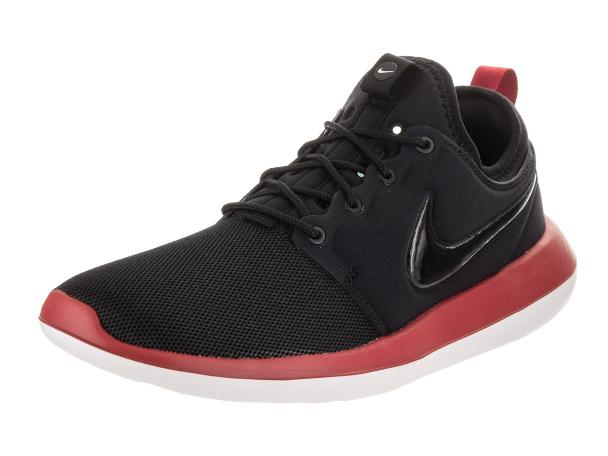 NIKE Men's Roshe Two Running Shoe B06XDNLVMB 10 D(M) US|Black/Black/Gym Red/White