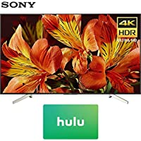 Sony XBR75X850F 75-Inch 4K Ultra HD Smart LED TV (2018 Model) with Hulu $50 Gift Card