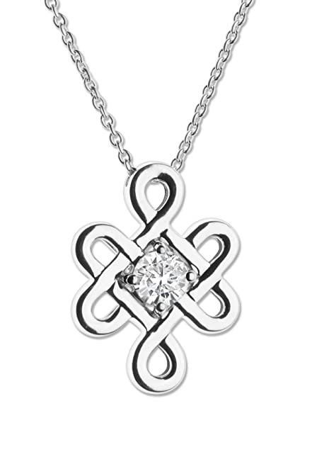 forever necklace by dp moissanite round charles gold pendant dew colvard white brilliant