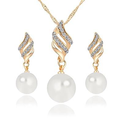 Buy Shining Diva Fashion Jewellery Pearl Set For Women White