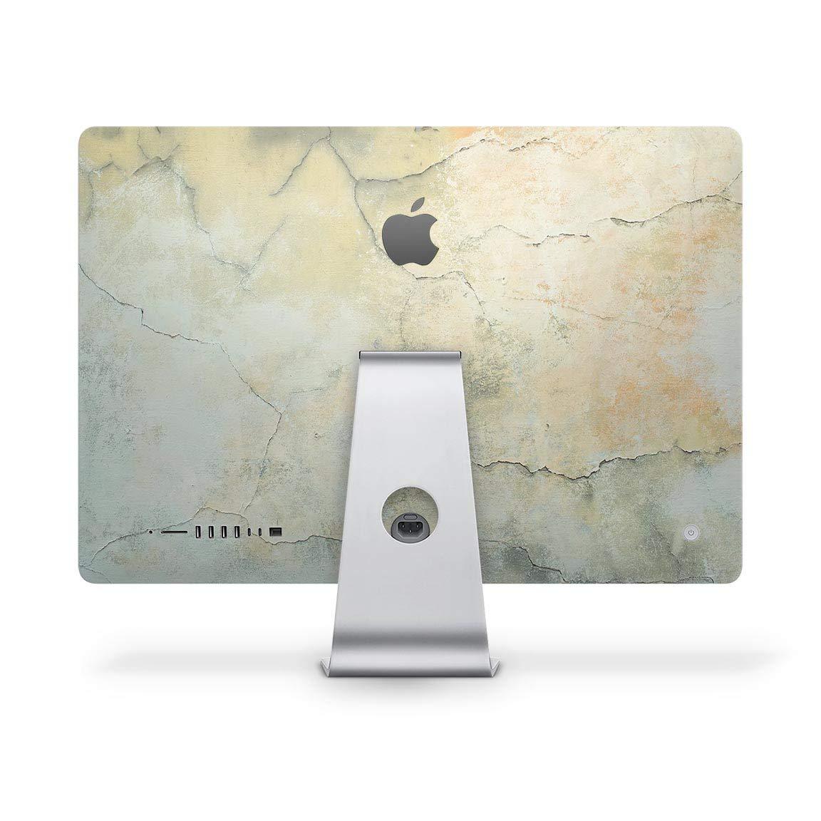 素朴なひび割れ模様の表面 V3デザイン Skinz フルボディキット 27インチ iMac 5k A1419 デスクトップコンピュータモニターケース&スタンド用 - プレミアム3Mビニールデカールラップカバー   B07P7KFLR8
