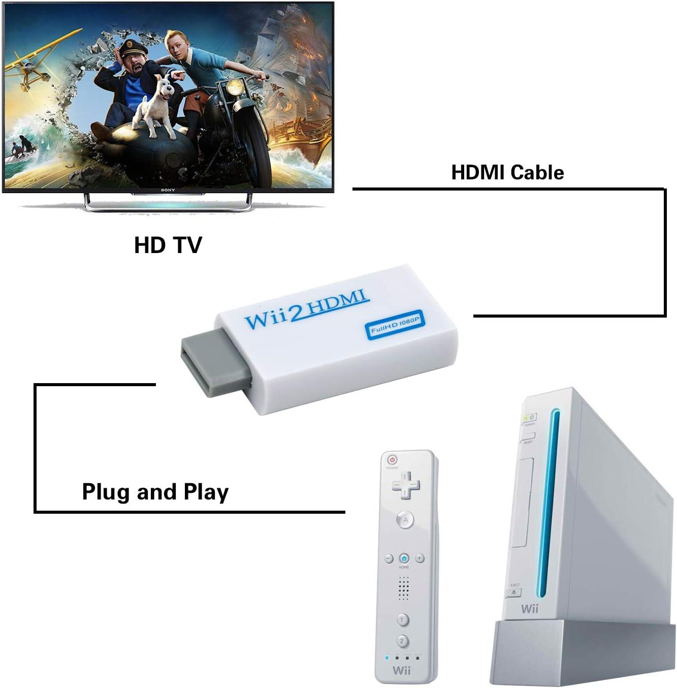 Mcbazel Wii a HDMI Converter, convertidor de Adaptador de Video ...