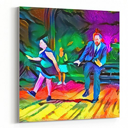 Westlake Art Tap Dance Lover 16x16 inch Modern Canvas Wrap Artwork Abstract Paintings Pictures Printed Wall Art for Home Office Decorations Unique Gift Idea Francis Abstract Painting