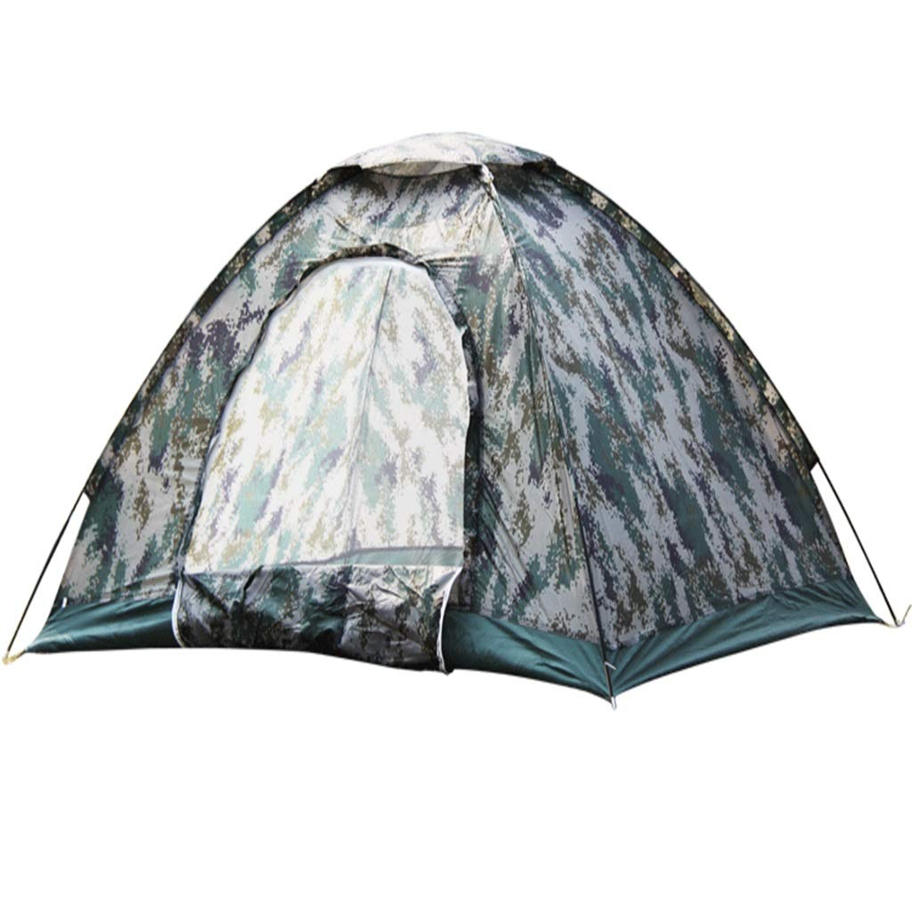 LYX Außenzelt Camping Camping Liefert Doppel-Single-Layer-Digital-Tarnung Runde Tür Zelt 3-4 Personen Camping Reisen