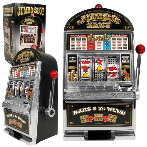Jumbo Table Top Slot Machine Bank - Includes Bonus Deck of Cards! (Bank Slot Jumbo)