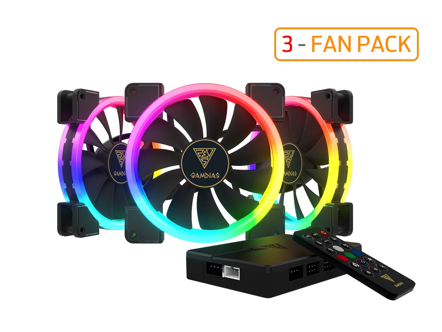 3 Fan Cooler Gamdias Rgb 140mm Dual Light Loop Motherboard S