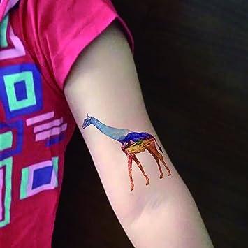 TAFLY impermeable Zoo Jirafa cuerpo Art Sexy impermeable tatuajes ...