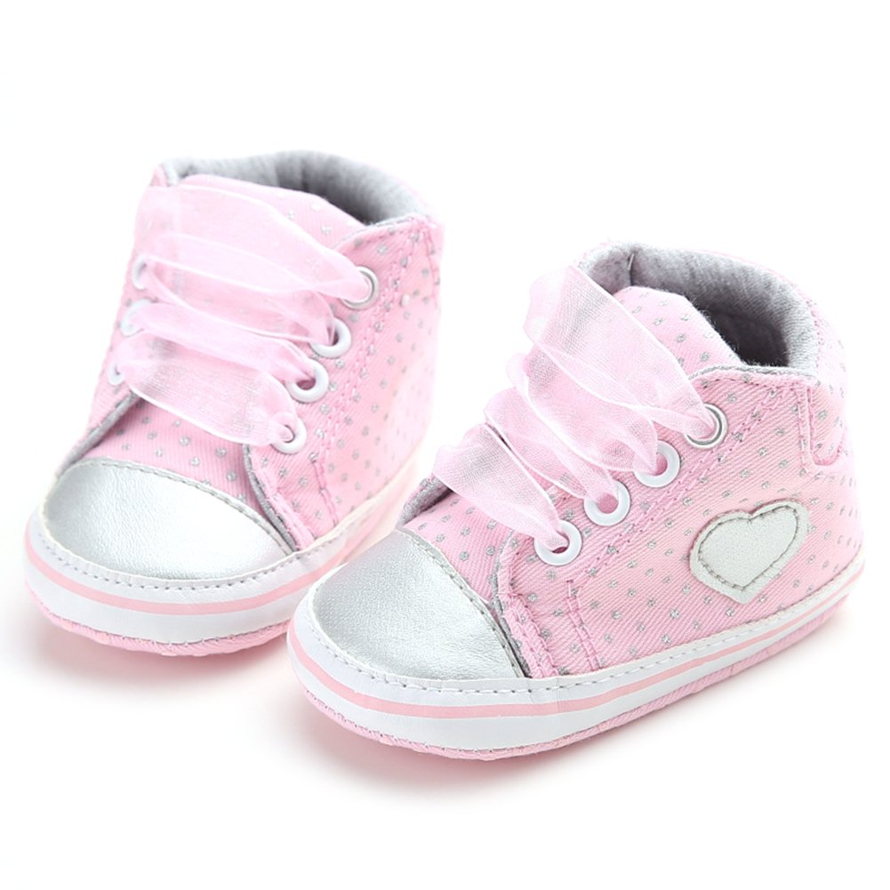 Baby Infant Toddler Shoes, Luerme Cute Girls Trainer Sneakers Antiskid Soft Sole Lace Up Shoes