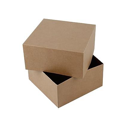RUSPEPA 20.5 X 20.5 X 10.2Cm Cajas De Regalo Cuadradas De Cartón, Tazas De